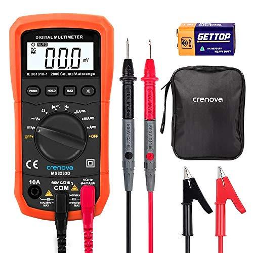 Best Budget Multimeter - Crenova MS8233D Multimeter Review - Crenova Digital Multimeter AC Voltage Detector Portable Tester Meter with Backlight Review