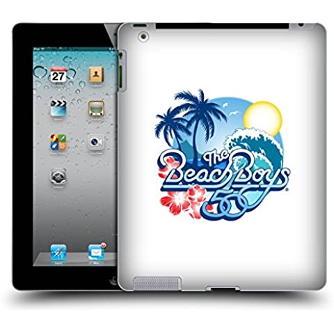 Ufficiale The Beach Boys Logo anniversario 50 anni Arte Chiave Cover Retro Rigida per Apple iPad 2 - 50 ° Anniversario Prova