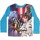 Star Wars - Camiseta de manga larga - Básico - Cuello redondo - para niño