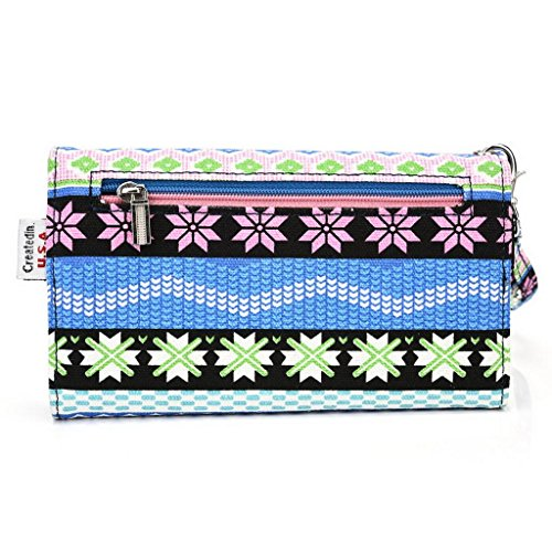 Kroo Pochette universel Femme Portefeuille Portable Pochette pour Asus Padfone x/S/E/Infinity Lite/Mini bleu bleu
