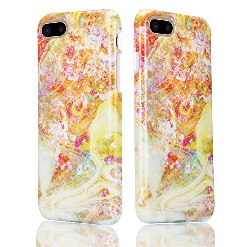 Für iPhone 7 Plus Hülle, Sunroyal TPU Case Flexible Weich Silikon Gel Ultra Slim Schutz Cover Kratzfeste Dauerhaft Schock-Beweis Bumper Etui Rundum-schutz Marmor Handyhülle für iPhone 7 Plus 5.5 Inch- Pattern #3