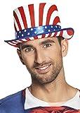 Magic Box Sombrero de Copa USA de Estrellas y Rayas del tamaño Adulto