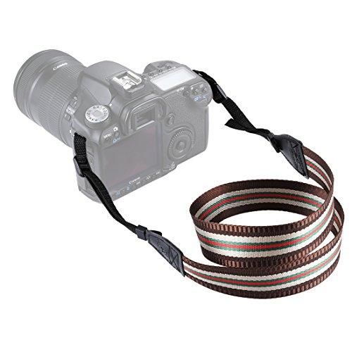 Movoja Kameragurt Redline Brown | Universal DSLR Kamera SLR Tragegurt Schultergurt für Nikon Canon...