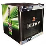 Husky Cool Cube Mini-Kühlschrank Becks Design / Energieeffizienzklasse A+ / Nutzinhalt 50