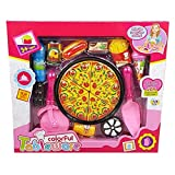 Toys N Smile Pizza Cutting Set Toys for Kids, Kitchen Restaurent Pretend Role