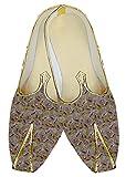 INMONARCH Herren Goldene Hochzeit Schuhe Lila Paisley MJ015978
