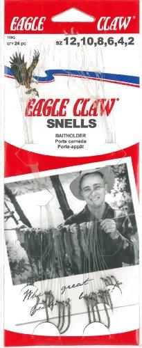 Eagle Claw 139rqh Sortiert Baitholder Snell Fisch Haken, 24Stück (rot)