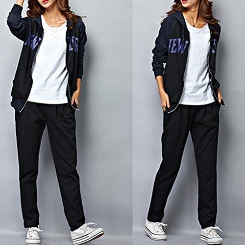 Zhuhaitf Haute qualité Fashion 4 Color Womens Comfortable Sport Fitness Loose Plus Size Pants Trousers Black