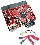 BIGtec IDE (PATA) zu S-ATA Adapter mit Stromversorgung und S-ATA Kabel IDE / S-ATA Adapter Konverter verbinden Sie externe S-ATA Geräte mit dem internen IDE Anschluß