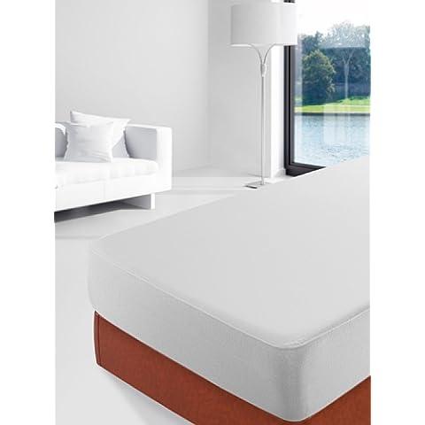 Savel, Sábana bajera Impermeable & Transpirable, tejido algodón 100% y barrera Antiácaros, 150x200cm (para camas de