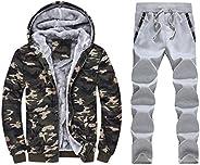 Men Winter Warm Jacket Coat, Male Camouflage Printed Long Sleeve Pocket Hoodies Sweatshirt Outwear