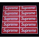 Supreme Red Box Logo Skate autocollants x1 x5 ou x10 ordinateur Portable/Téléphone Autocollant Supreme