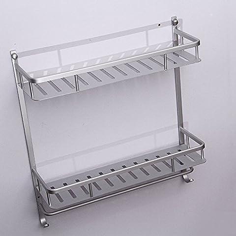 GYMNLJY Zweiten Stock Badezimmer Raum Aluminium Gepäckträger mit Haken