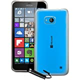 Funda silicona tpu gel case cover cobertura para Microsoft Lumia 640 incl. Protector de Pantalla TPU Clear