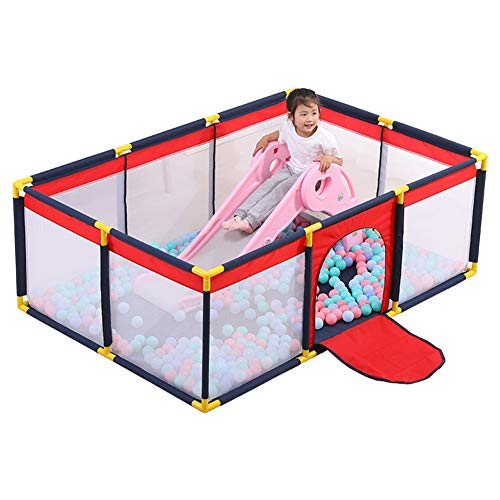 HH- Laufstall Baby-Laufstall Mit Rutsche, Indoor-Kinderspielzaun, Baby-Crawl-Kleinkind-Zaun Activity Center Safety Play Yard (Kinder Activity Center Mit Rutsche)