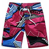 QinMM Shorts de Bain Hommes Boxer Trunks Pantalon Court de Sport Bermuda, Séchage...