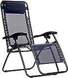 AmazonBasics Chaise de camping pliable zéro gravité Bleu