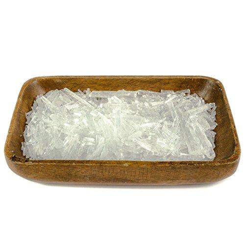 DIYer - Mentholkristalle - PREMIUM Qualität - Saunakristalle Eiskristalle – aus 100% reinem Minzöl - für Sauna Aufgüsse - große Menthol Kristalle - 100g