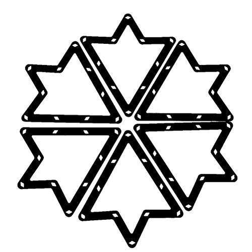Pixnor 6 Stk. Magische Rack Billard Dreieck Triangel Queue Zubehör schwarz 8 und 9 Ball