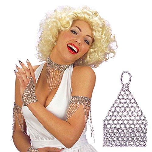 ntenarmband silber 20er Jahre Charleston Schmuck Handschmuck Bauchtanz Schmuck Perlenarmband Perlen Armband (Strass Bauchtanz Kostüme)