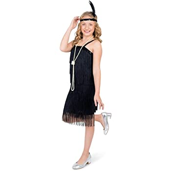 2afe7d46c Girls Charleston Black Flapper Costume Child 1920s Gatsby Fancy ...
