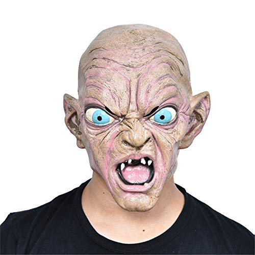 NUOKAI Halloween Ganze Person Requisiten Maskerade Latex Maske Horror Maske, Latex Alien Kopf