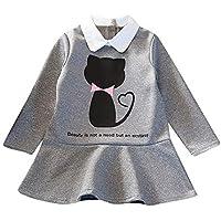Longra ☂☂ ☂☂☞☞❤❤ Toddler Kids Baby Girl Princesa de Dibujos Animados Patchwork Ruffle Party Dress Falda de Sirena