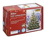 Idena 8325059 Led- Lichterkette 80-er außen bunt (buntes Licht, 80 LEDs)
