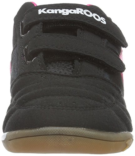KangaROOS Power Court Ps, Baskets Basses Mixte Enfant Noir - Schwarz (black/magenta 565)
