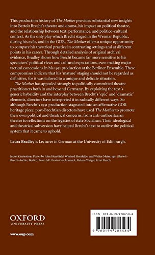 Brecht and Political Theatre: The Mother on Stage (Oxford Modern Languages and Literature Monographs)