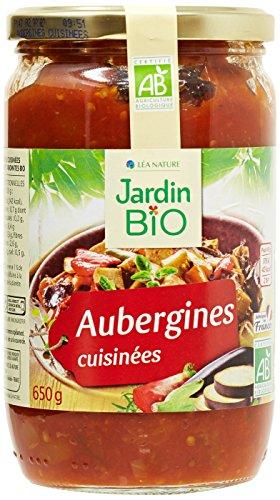 Jardin Bio Aubergines Cuisinées 650 g - Lot de 3