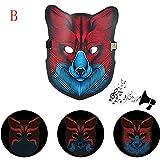 TAOtTAO Partei Version Sound Reaktive LED Maske Tanz Rave Leuchten Einstellbare Maske (B)