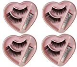 Elecsera Black Long False Eyelashes With Glue for Pretty Eye Makeup Combo Pack
