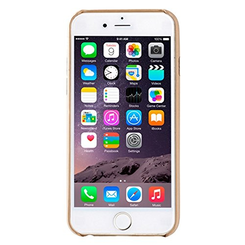 Phone case & Hülle Für IPhone 6 Plus / 6S Plus, Ultra-dünne schützende Leder zurück Fall Fall ( Color : Black ) Gold