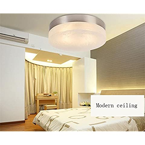 Alta calidad-- Techo LED redondo moderno restaurante minimalista terraza de techo --Afficiency:A+++ ( Tamaño : L