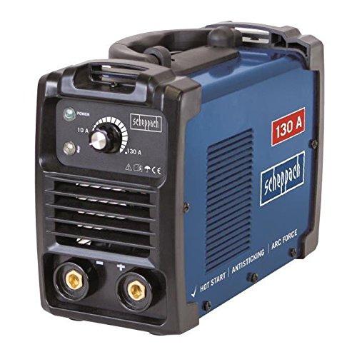 Scheppach 5906602901 Schweißer/Schweißgerät mit Elektroden WSE860, automatischer Heißstart, Anti-Hafttechnik und dynamische Stromnachregelung, Leistung regelbar: 10-130 A, 2300 W, 230 V