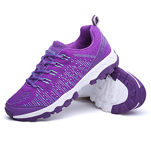 Unisex Fitness Athletic Shoes Passeggiare Sport Zapatillas Viola