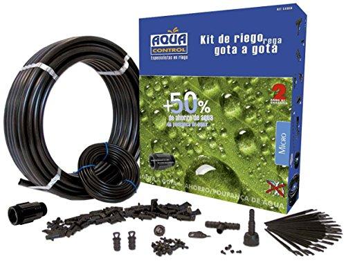 Aqua center M86176 – Kit de riego gota a gota para 25 m² 25 m. de tuberia / 50 goteros