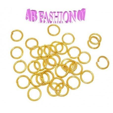 6mm Biegeringe offen (6x1mm) - Goldfarben, 20 Stück