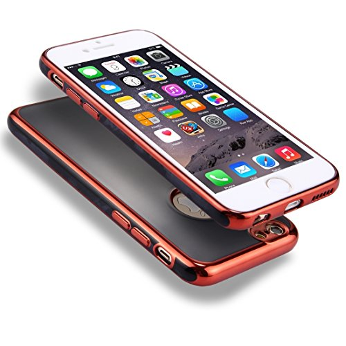 Wkae 360 Grad Shockproof abnehmbare Galvanotechnik TPU + PC Kombi-Schutzhülle mit weißer PC-Abdeckung für iPhone 6 & 6s ( Color : Red ) Red