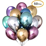 50pcs/Set Multi Color Foil Balloon Party Supplies Banner Paper Garland For Happy Birthday Party Decoration Kids Baby Party Su