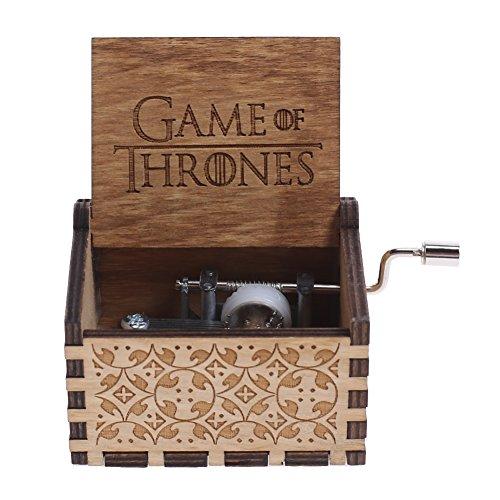 NELNISSA Game of Thrones Musik Box Gravur Holz Musik Box Basteln Kid Weihnachts geschenke