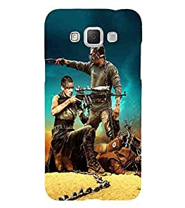 For Samsung Galaxy Grand 3 :: Samsung Galaxy Grand Max G720F fighter man, man, girl, girl with gun, man with gun Designer Printed High Quality Smooth Matte Protective Mobile Case Back Pouch Cover by APEX