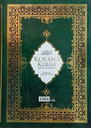 Kur`an-i Kerim Renkli kelime meali (Farbkodierter Koran - Mit türkischer Übersetzung)