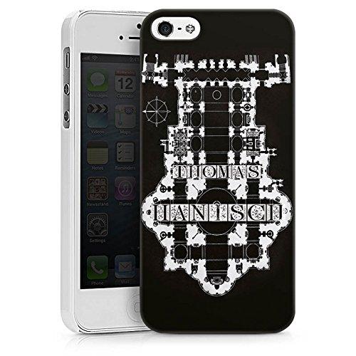 Apple iPhone X Silikon Hülle Case Schutzhülle Thomas Hanisch Schwarz Weiß Rock n Roll Hard Case weiß