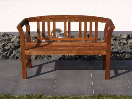 TPFGarden Gartenbank/Holzbank ROSALI 120cm 2-sitzer aus Akazie Massiv   Holz von Höchster Qualität   Farbton: Akazie Braun   FSC-Zertifiziert   1 Stück