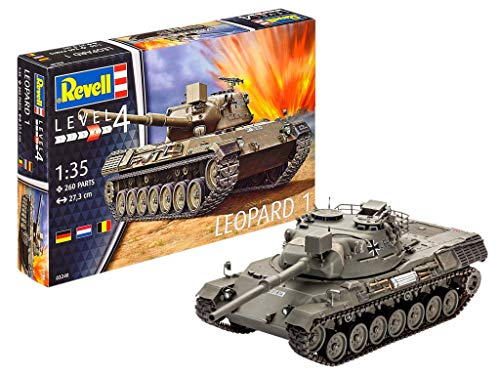 Revell- Leopard 1 Kit Modelo, Multicolor (03240)