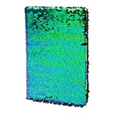 Exing Carnet de notes A5 Creative Sequins Bloc-notes de notes de journal de paillettes Papeterie Fournitures de bureau (Vert)