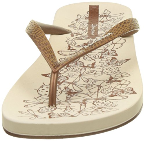 Ipanema Anat Nature Fem, Tongs Femme Beige (Beige/Bronze)