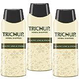 Trichup Packung mit 3 60ml Herbal Hair Shampoo Natürliches Henna Shampoo für kräftiges Haar Scalp Care Kit